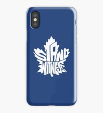 Toronto Maple Leafs Stand Witness White iPhone Case/Skin