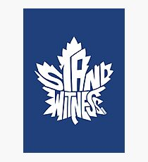 Toronto Maple Leafs Stand Witness White Photographic Print