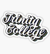 Trinity Retro Script Sticker