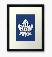 Toronto Maple Leafs white Framed Print