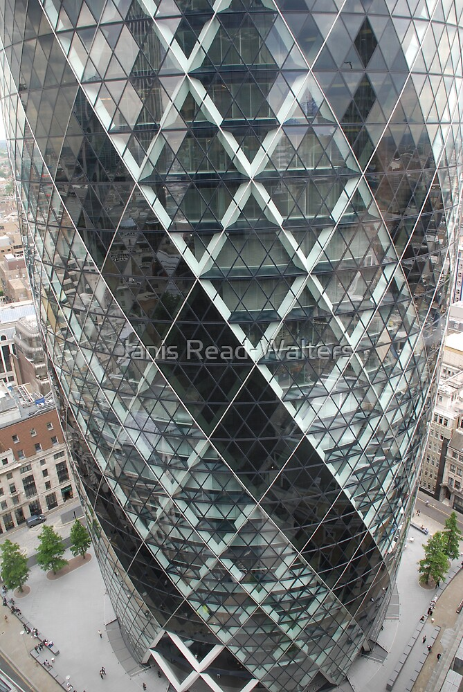 the gherkin, city of london by Janis Read-Walters