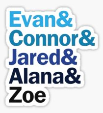 Dear Evan Hansen Characters | Blues Sticker