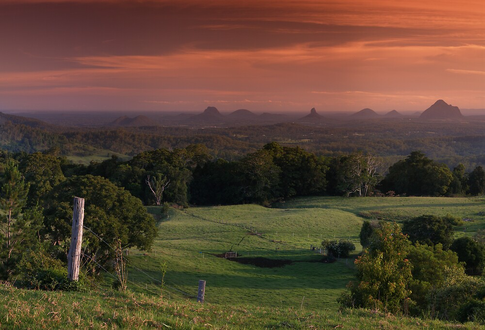 Glass House Mountains by David James