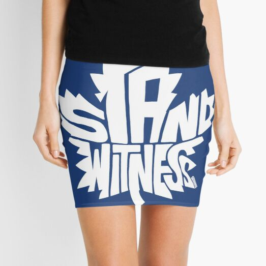 Toronto Maple Leafs Stand Witness White Mini Skirt