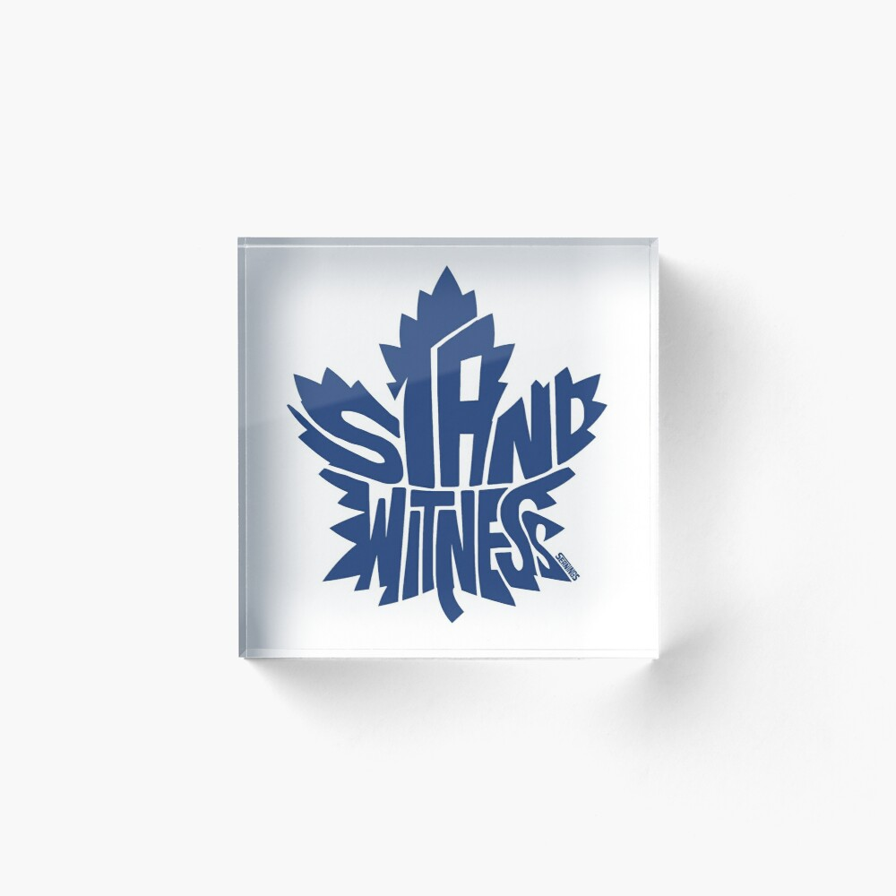 Toronto Maple Leafs Stand Witness Blue Art Board Print By Seaning Redbubble