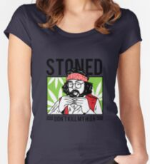 STONED - Dont kill my high Women's Fitted Scoop T-Shirt