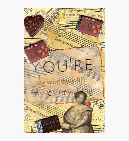 Ode To Chocolate Photographic Print