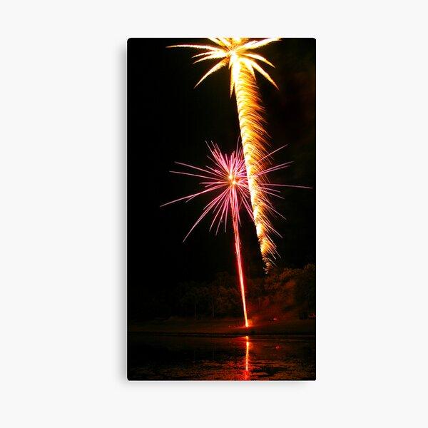 Carol's Fireworks @ Mount Barker 3 Canvas Print