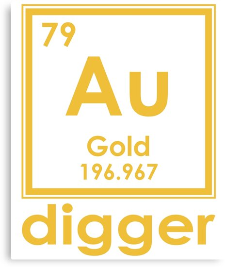 Gold digger au 196967 periodic table of elements design canvas gold digger au 196967 periodic table of elements design by nvalleydesign urtaz Gallery