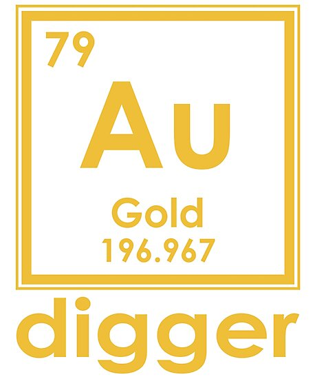 Gold digger au 196967 periodic table of elements design gold digger au 196967 periodic table of elements design by nvalleydesign urtaz