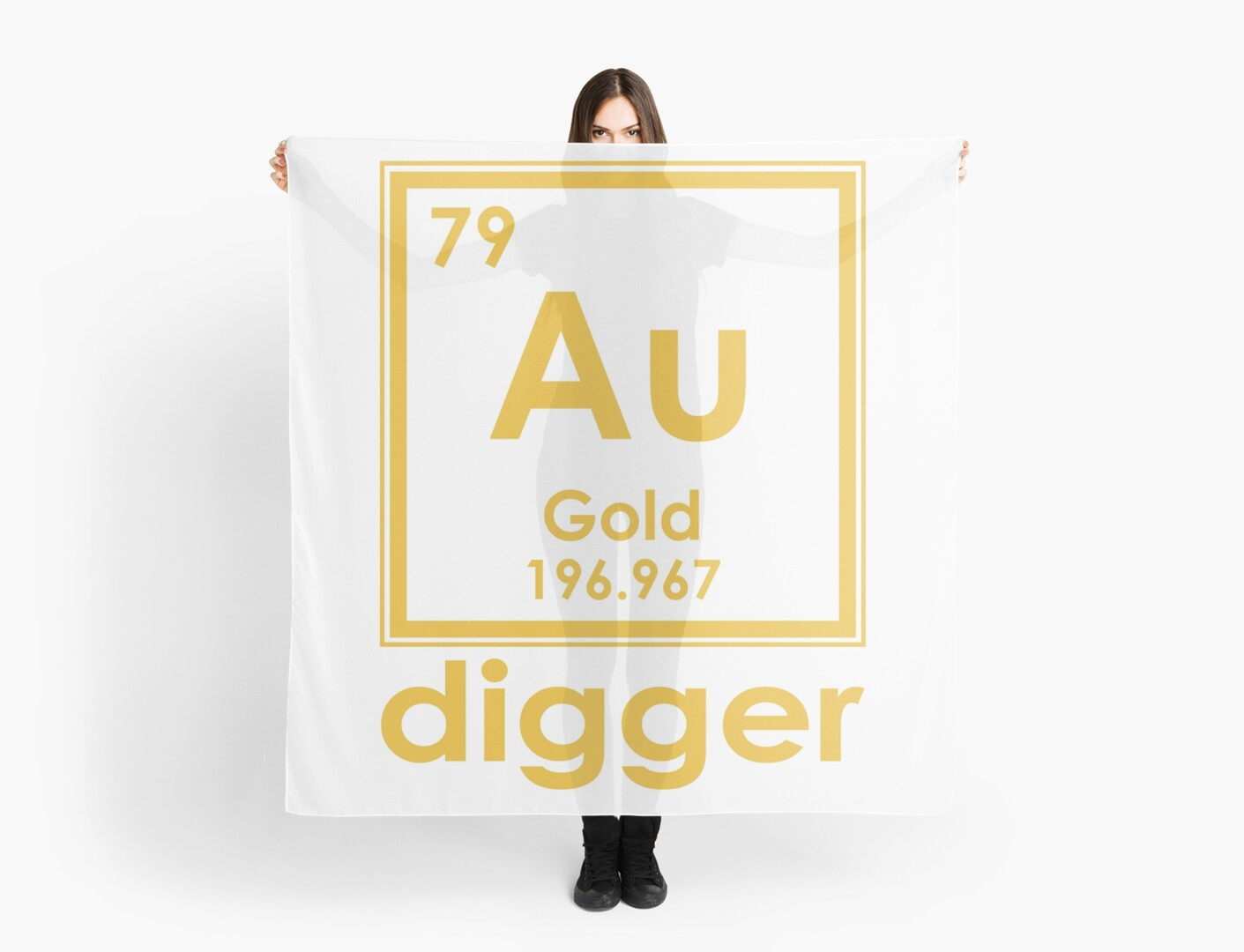 Gold digger au 196967 periodic table of elements design scarves by gold digger au 196967 periodic table of elements design by nvalleydesign urtaz Images