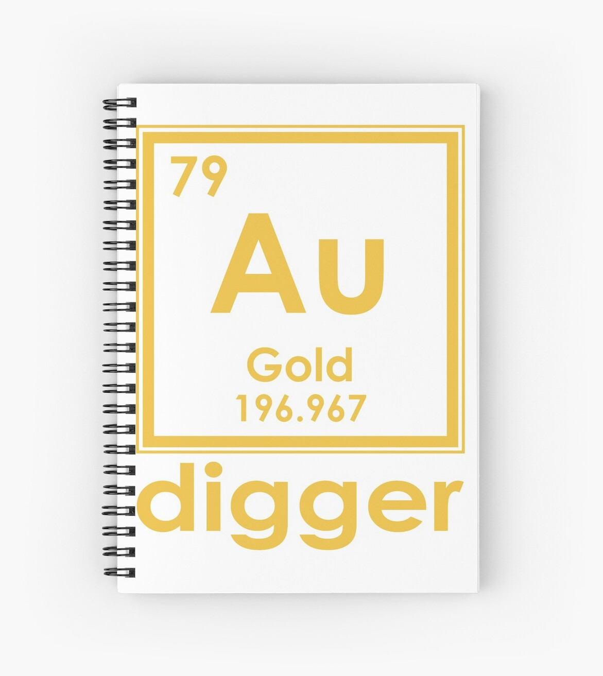 Gold digger au 196967 periodic table of elements design spiral gold digger au 196967 periodic table of elements design by nvalleydesign urtaz Images