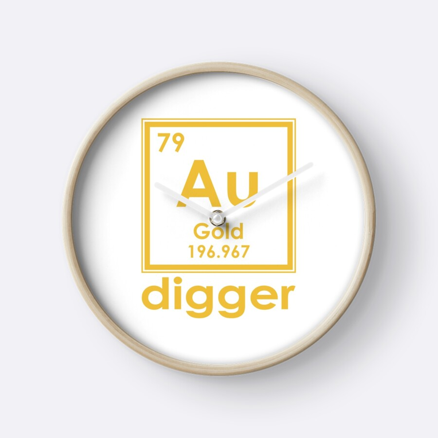 Gold digger au 196967 periodic table of elements design clocks by gold digger au 196967 periodic table of elements design by nvalleydesign urtaz Choice Image