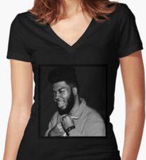 Khalid Robinson  Women's Fitted V-Neck T-Shirt
