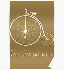 Dyke in white bike Poster
