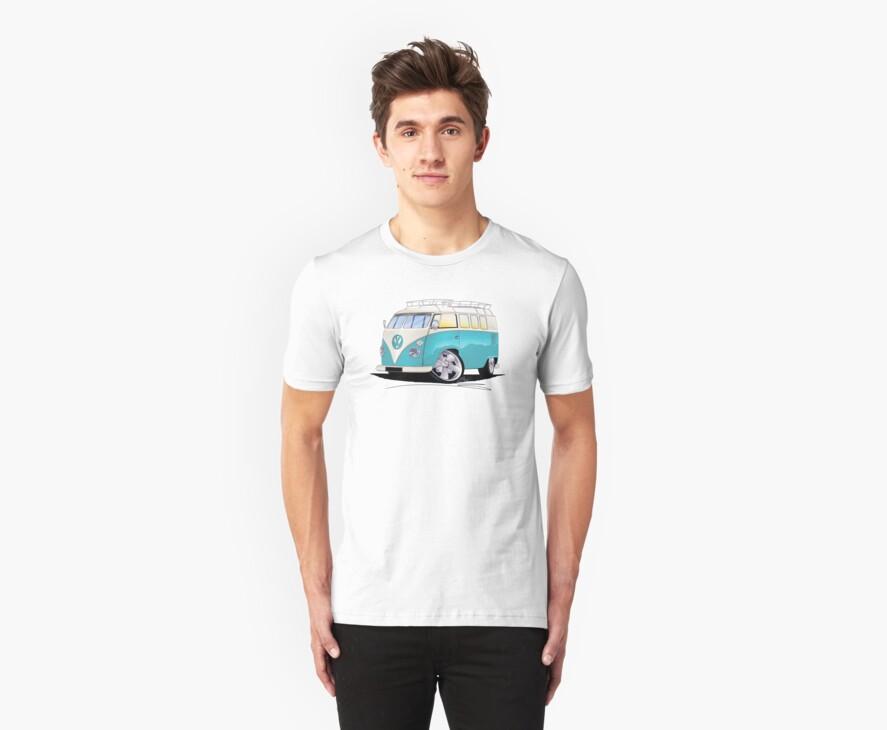 VW Splitty (Custom Blue) Camper Van by Richard Yeomans