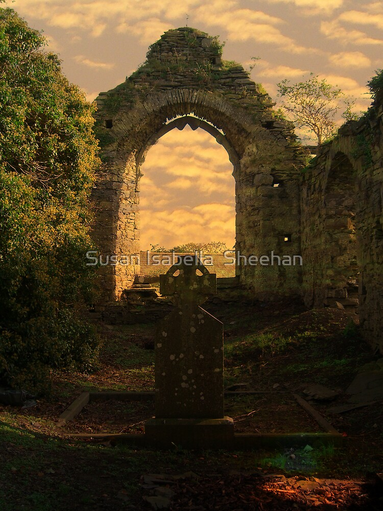 Old Duleek Graveyard by Susan Isabella  Sheehan