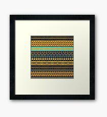 Vector seamless surf pattern Framed Print