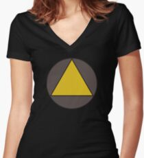 David Legion Triangle  Women's Fitted V-Neck T-Shirt