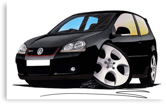 VW Golf GTi (Mk5) Black by yeomanscarart