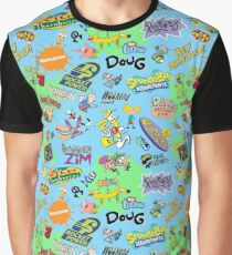 Nicktoons Hawaiian Print-a-Palooza! Graphic T-Shirt