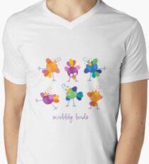 Scribbly Birds Men's V-Neck T-Shirt
