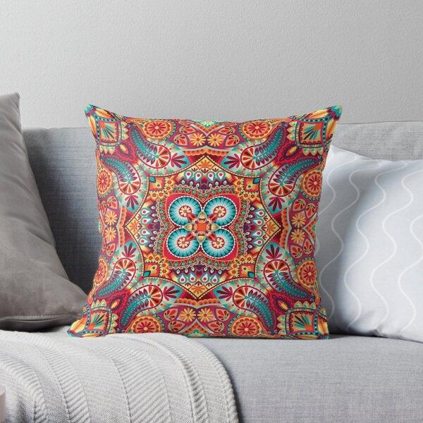 Paisley vintage oriental kerchief ornament design Throw Pillow