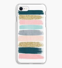 Zara - Modern abstract brushstroke painting for cute cell phone and trendy gifts iPhone Case/Skin