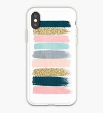 Zara - Moderne abstrakte Pinselstrichmalerei für niedliches Handy und modische Geschenke iPhone-Hülle & Cover