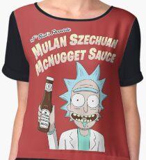 Szechuan Sauce Chiffon Top