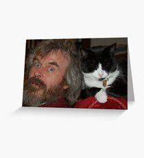Martin and Binky Cat Greeting Card