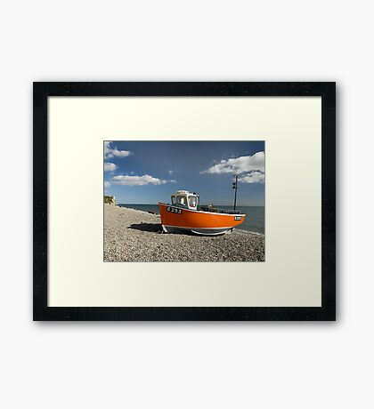 Branscombe Fishing Boat Framed Print