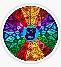 SCI - String Cheese Incident - Rainbow Geometric Mandala - Psychedelic Funkadelic Sticker