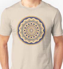 Purple and Gold Mandala Pattern Unisex T-Shirt