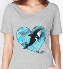 MOSAIC WHALE HEART PATCH  Women's Relaxed Fit T-Shirt