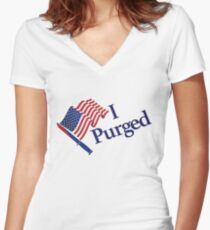 I Purged Women's Fitted V-Neck T-Shirt