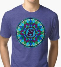SCI - String Cheese Incident - Star - Geometric Mandala - Psychedelic - Trippy Tri-blend T-Shirt