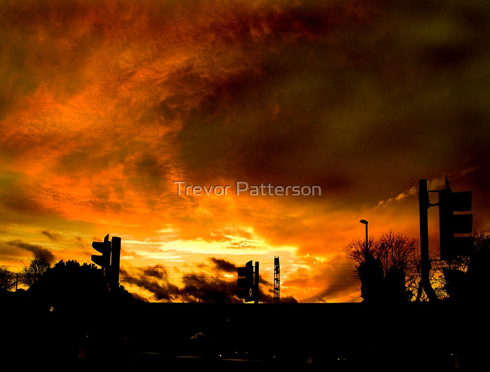 Fire in the sky by Trevor Patterson