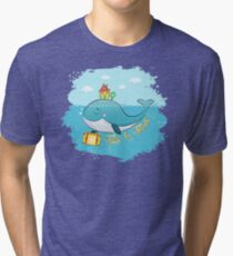 Whale. Time to travel Tri-blend T-Shirt