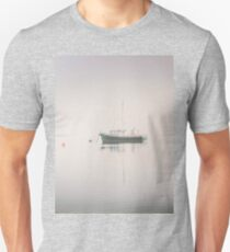 Vintage photo of a fishing boat anchored at dusk Unisex T-Shirt