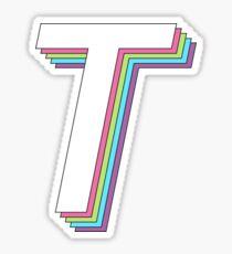 3D layered 2.0 - tau Sticker