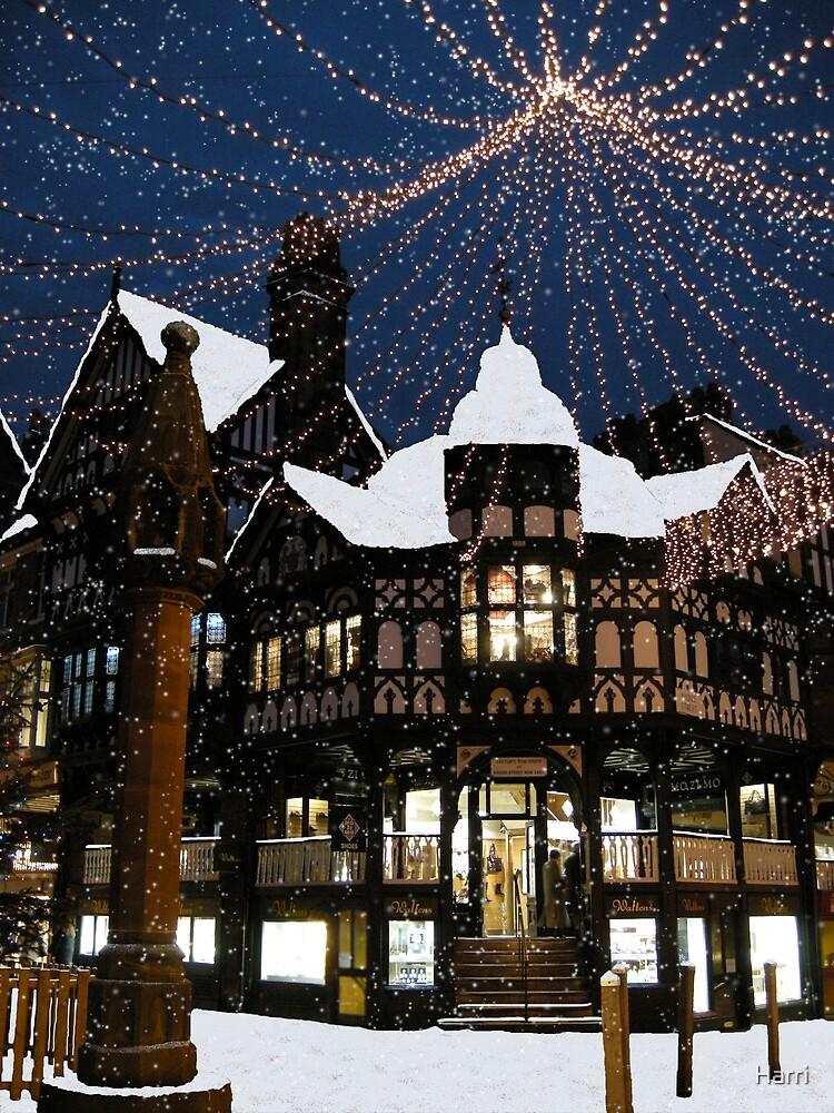 Chester Cross  Snow fall by Harri