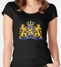 Netherlands Coat of Arms Women's Fitted Scoop T-Shirt