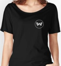 Westworld White Logo Women's Relaxed Fit T-Shirt