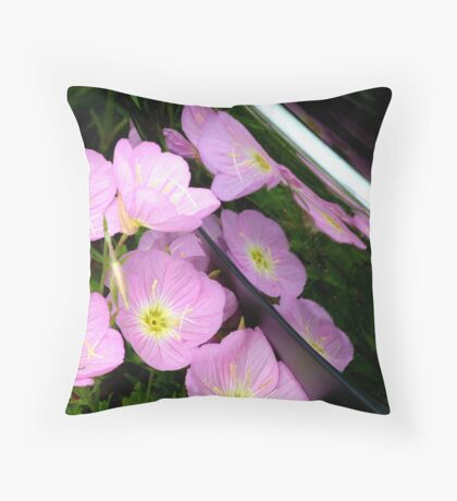 Nature reflected in chrome Throw Pillow