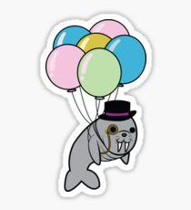 Classy Floating Walrus Sticker