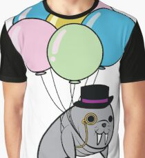 Classy Floating Walrus Graphic T-Shirt