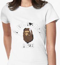 Blazing Affe Tailliertes T-Shirt
