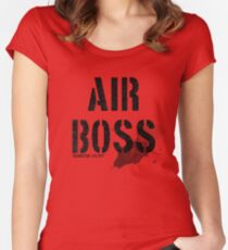 Air Boss (requestin' a flyby) Women's Fitted Scoop T-Shirt