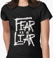 Fear is a Liar - Inspirational Christian Women's Fitted T-Shirt